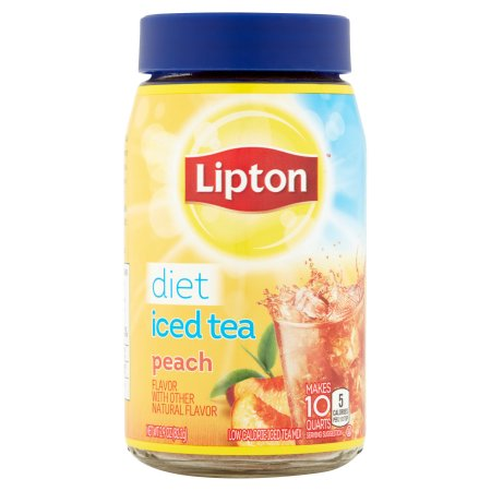 Lipton Diet Peach Iced Tea Mix, 10 qt