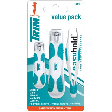 Trim Easy Hold Clipper/Tweezers Value Pack, 3 pc