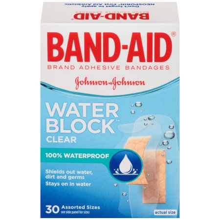 Band-Aid Brand Water Block Plus Adhesive Bandages, Assorted Sizes, 30 Count