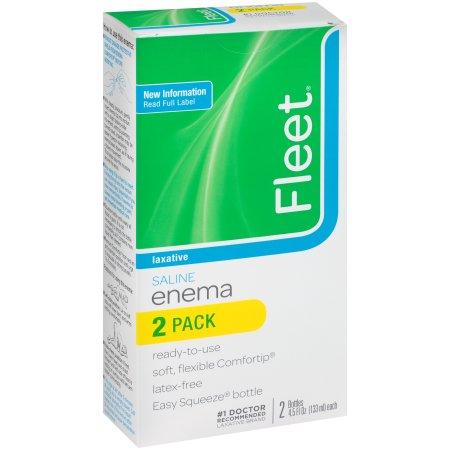 Fleet Enema: Ready-To-Use w/Saline Laxative, 4.5 Fl Oz