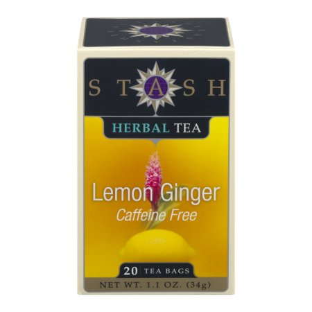 Stash Herbal Tea Caffeine Free Lemon Ginger - 20 CT