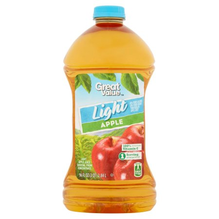 Great Value Light Apple Juice Cocktail, 96 fl oz