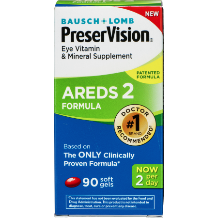 Bausch + Lomb Preser Vision Eye Vitamen & Mineral Supplement AREDS 2 Formula - 90 CT