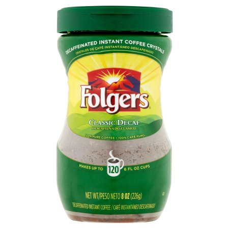 Folgers Instant Coffee Decaf Classic, 8.0 OZ