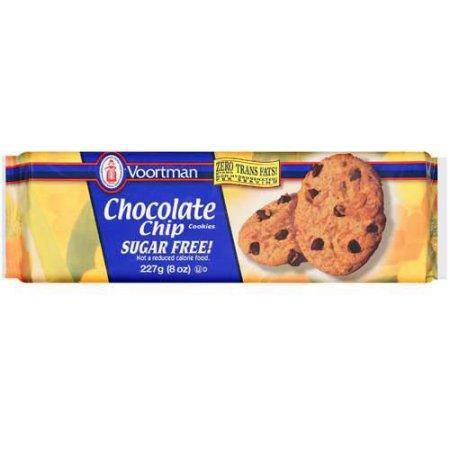 Voortman Sugar Free Chocolate Chip Cookies, 8 oz