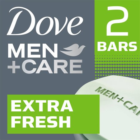 Dove Men+Care Extra Fresh Body and Face Bar, 4 oz, 2 Bar