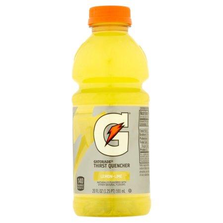 Gatorade Lemon Lime Thirst Quencher (8-20 FlOz) 160 Fl Oz Plastic Bottles