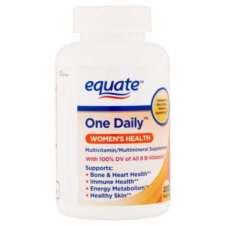 Equate Women's  With Calcium, Iron & Zinc Dietary Supplement 200 ct