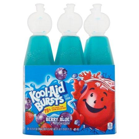 Kool-Aid Bursts Berry Blue Soft Drink, 6 count, 40.5 FL OZ (1.2l)