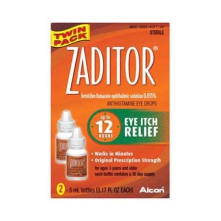 Zaditor Antihistamine Eye Drops Twin Pack 0.34 oz