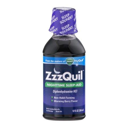 ZzzQuil Nighttime Sleep-Aid Warming Berry Liquid, 12 fl oz