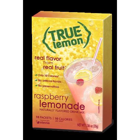 True Lemon Naturally Flavored Drink Mix Raspberry Lemonade - 10 CT