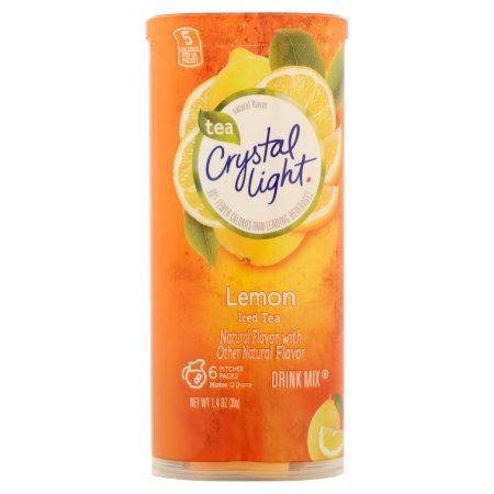 Crystal Light Lemon Iced Tea Drink Mix 6 ct Canister