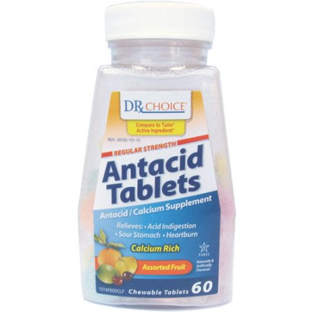 DRX Choice Tropical Fruit Antacid/Calcium Supplement, 60ct