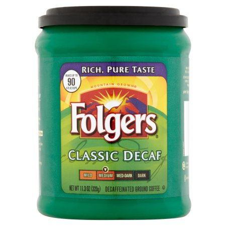 Folgers Classic Decaf Medium Ground Coffee 11.3oz