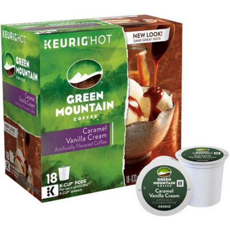 Green Mountain Coffee K-Cups Caramel Vanilla Cream Coffee, 18 count