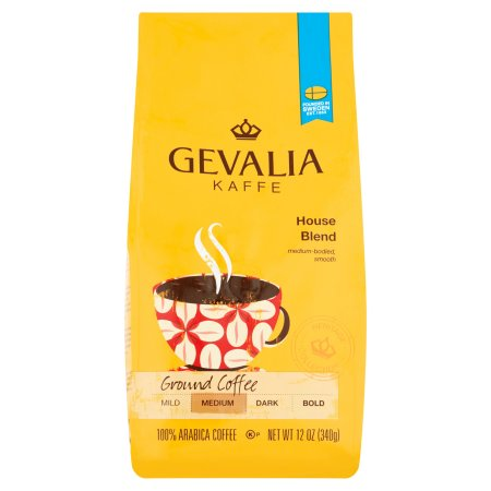 Gevalia Kaffe House Blend Medium Roast Ground Coffee, 12 OZ (340g)
