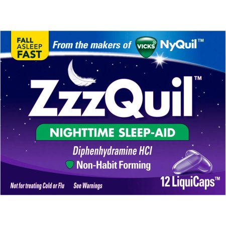 ZzzQuil Nighttime Sleep-Aid LiquiCaps, 12 count