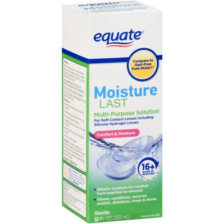 Equate Moisture Last Multi-Purpose Solution for Soft Contacts, 12 fl oz