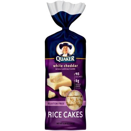 Quaker® White Cheddar Rice Cakes 5.50 oz. Bag