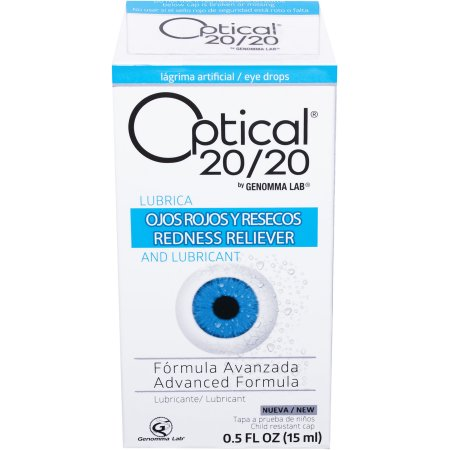 Optical 20/20 Advanced Formula Lubricant Eye Drops, 0.5 fl oz