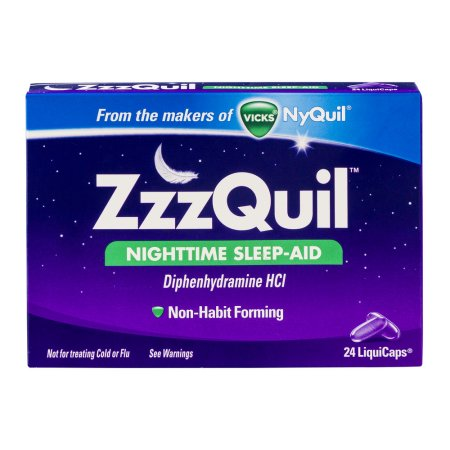 Vicks Nyquil ZzzQuil Nighttime Sleep-Aid LiquiCaps - 24 CT