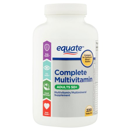 Equate Mature Multivitamin A Thru Z Adults 50+ Tablets Dietary Supplement - 220 Ct