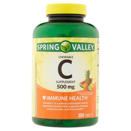 Spring Valley Chewable C Vitamin Multiple Fruit flavors Dietary Supplement 200 ct