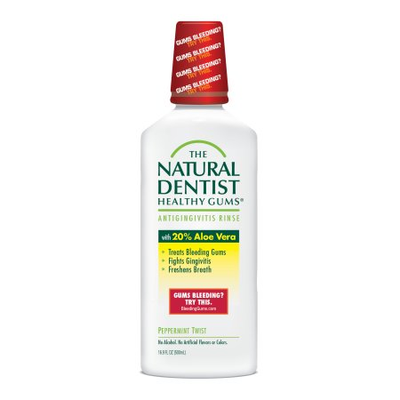 The Natural Dentist Healthy Gums Peppermint Twist Antigingivitis Rinse, 16.9 fl oz