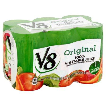 V8 Original 100% Vegetable Juice 5.5oz 6 pack