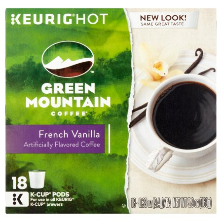 Green Mountain Coffee French Vanilla Light Roast K-Cups Coffee, 18 count