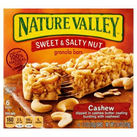 Nature Valley™ Cashew Sweet & Salty Nut Granola Bars 6 ct Box