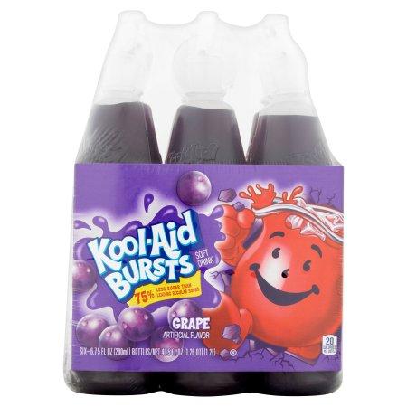 Kool-Aid Bursts Grape Soft Drink, 6 count, 40.5 FL OZ (1.2l)