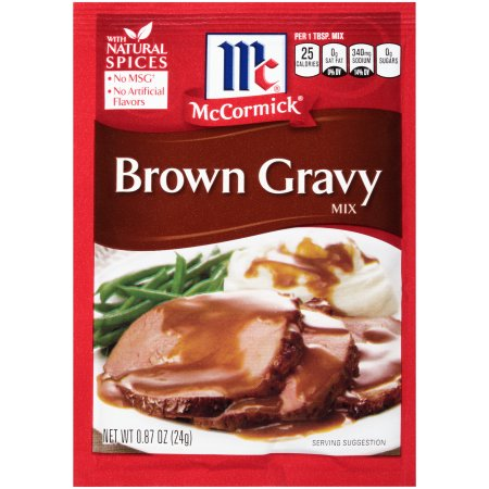 McCormick® Brown Gravy, 0.87 oz. Packet