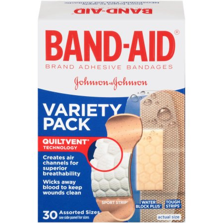 Band-Aid Brand Active Lifestyles Variety Pack Adhesive Bandages, 30 Count