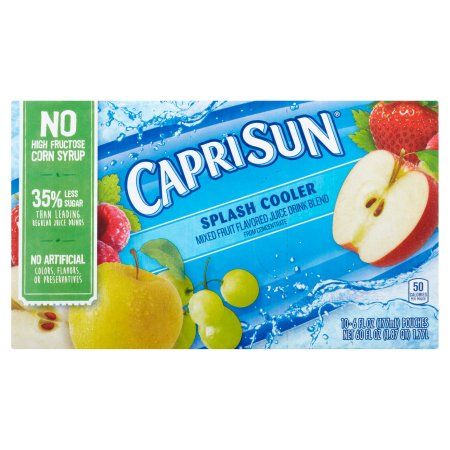 Capri Sun Splash Cooler Fruit Juice Drink Blend, 10 count, 60 FL OZ (1.77l)
