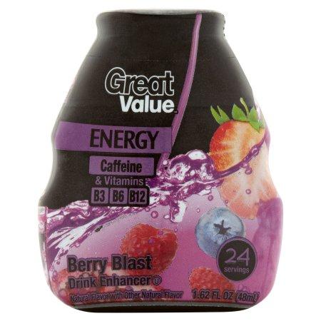 Great Value Energy Berry Blast Drink Enhancer, 1.62 fl oz