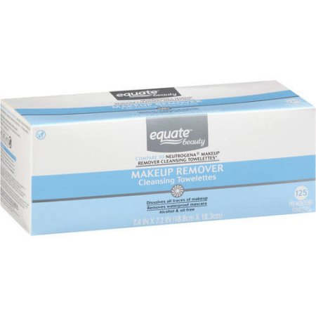 Equate Beauty Makeup Remover Cleansing Towelettes, 125 sheets