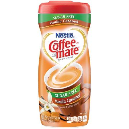 COFFEE-MATE Vanilla Caramel Sugar Free Powder Coffee Creamer 10.2 oz. Canister