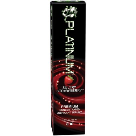 WetWet Platinum Sultry Strawberry Premium Concentrate Lubricant Serum, 3.1 fl oz