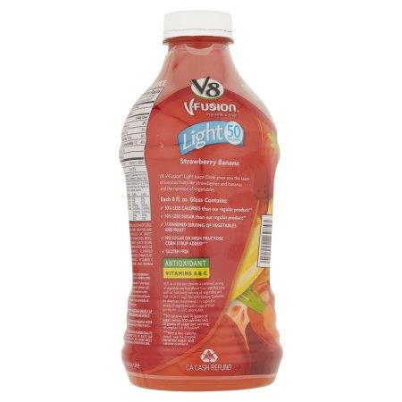 V8 V-Fusion Light Strawberry Banana Fruit & Vegetable Juice 46oz