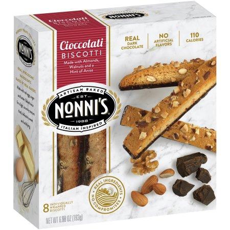 Nonni's Cioccolati Biscotti - 8 CT