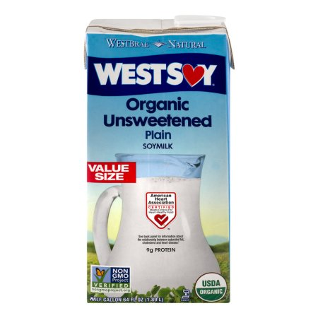 WestSoy Organic Unsweetened Plain Soymilk, 64.0 FL OZ