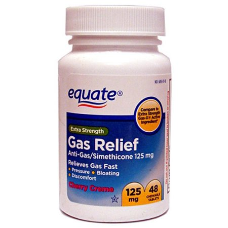 Equate Extra Strength Anti-Gas/Simethicone Chewable Tablets Gas Relief, 48ct
