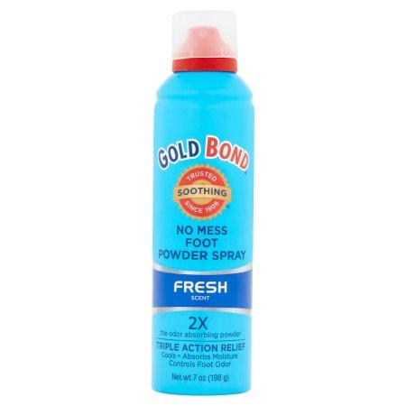 Gold Bond Fresh Scent No Mess Foot Powder Spray, 7 oz