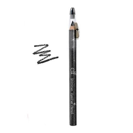 e.l.f. Cosmetics Shimmer Eyeliner Pencil, Black Bandit, 0.05 oz