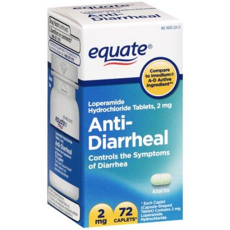Equate Antidiarrheal, 72 count