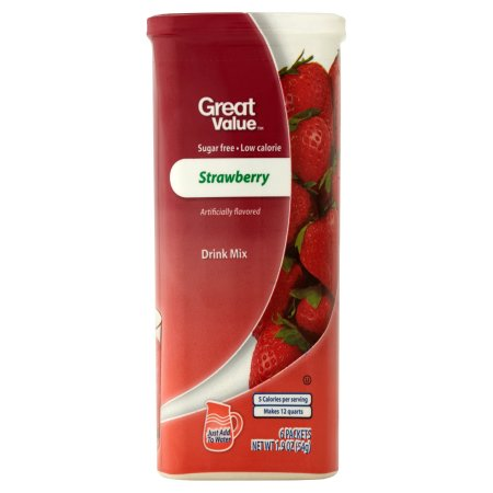 Great Value™ Strawberry Drink Mix 1.9 oz. Canister