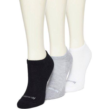 No nonsense Women's BREATHE Cushioned No Show Socks - 3 Pack