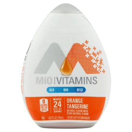 MiO Vitamins B3, B6, B12 Liquid Water Enhancer Orange Tangerine, 1.62 FL OZ (48ml) Bottle